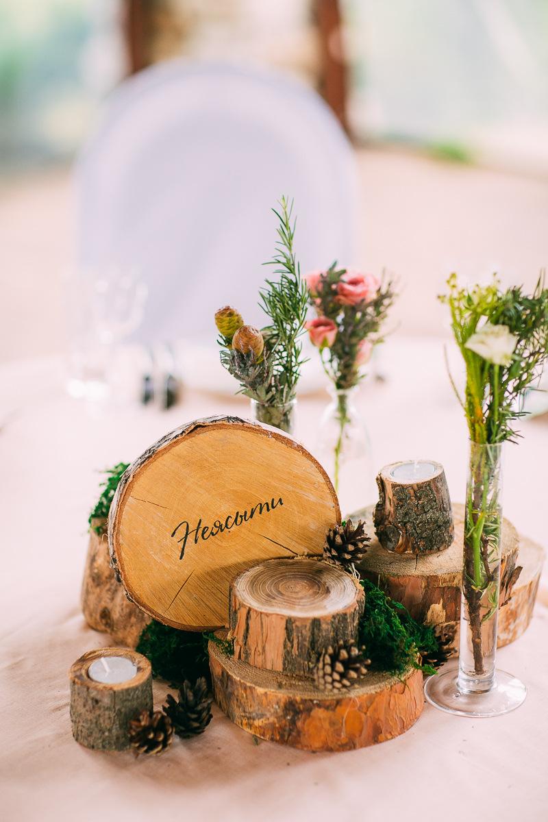 Тематическая свадьба с совами в рустикальном отеле