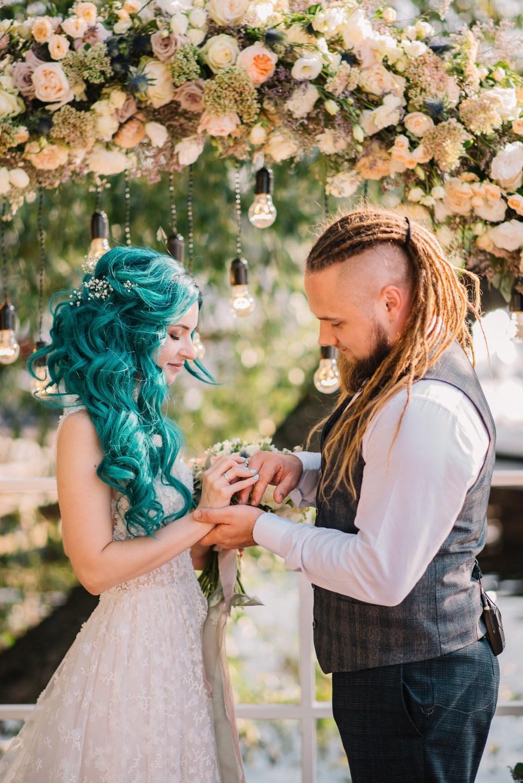 Свадьба цвета морской волны в яхт-клубе