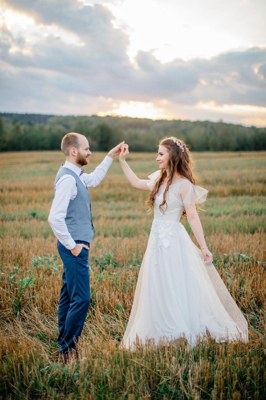 Тепло сентября: душевная свадьба за городом