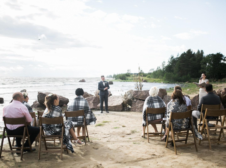 Свадьба на берегу Финского залива на 8 гостей