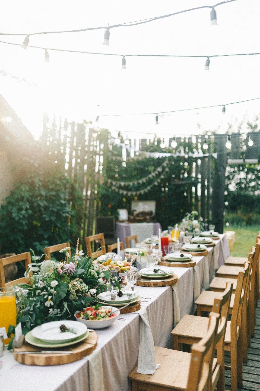 Свадьба на природе в стиле рустик