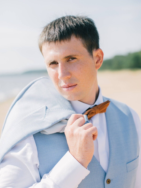 Этюд в голубых тонах: акварельная свадьба