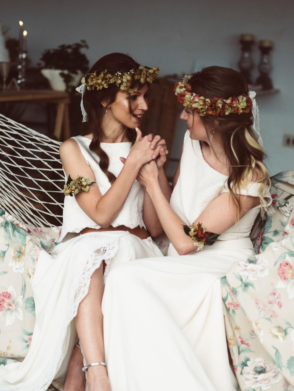 Стилизованная свадьба в испанском саду