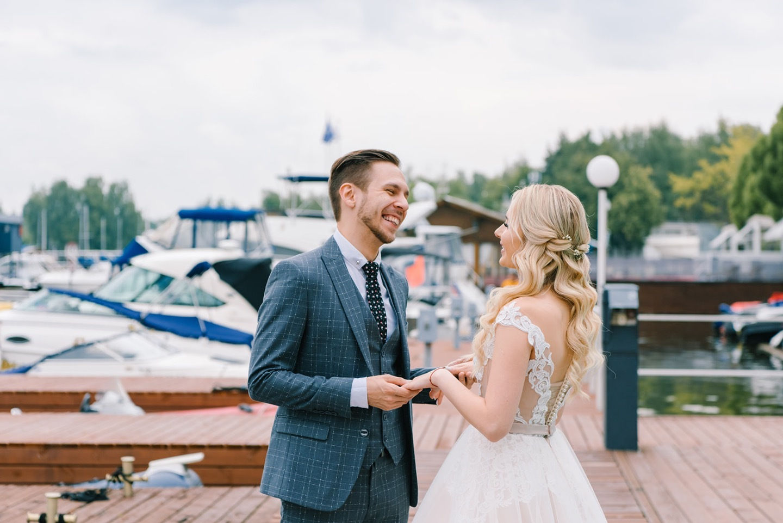Романтичная свадьба в концепции «Луна и солнце»