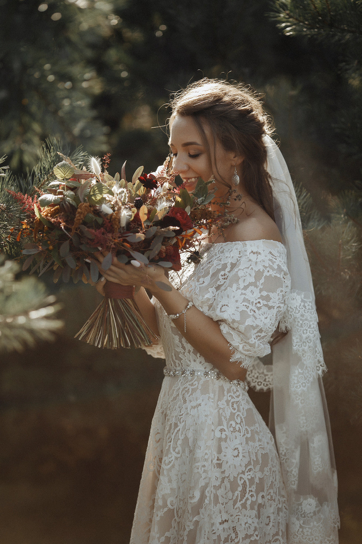 Кружево и макраме: свадьба в стиле бохо