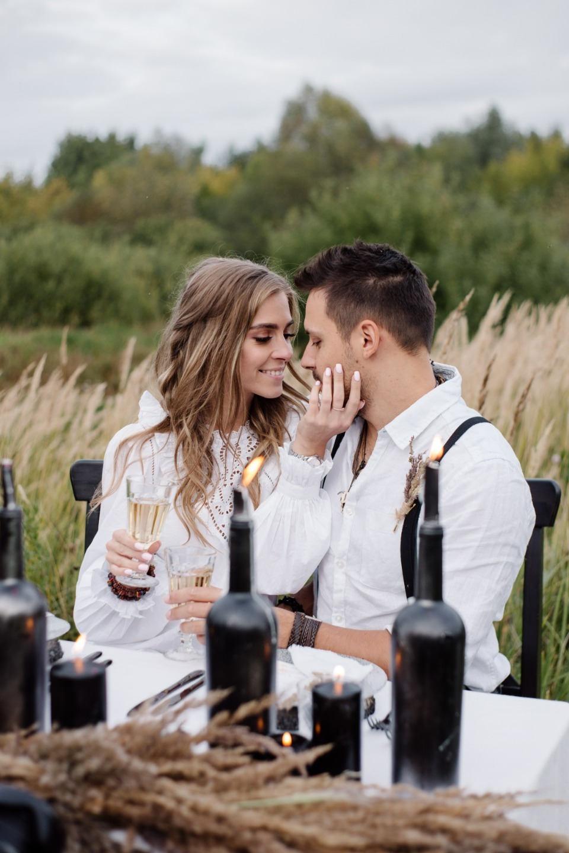Стилизованная бохо-свадьба в первый день осени