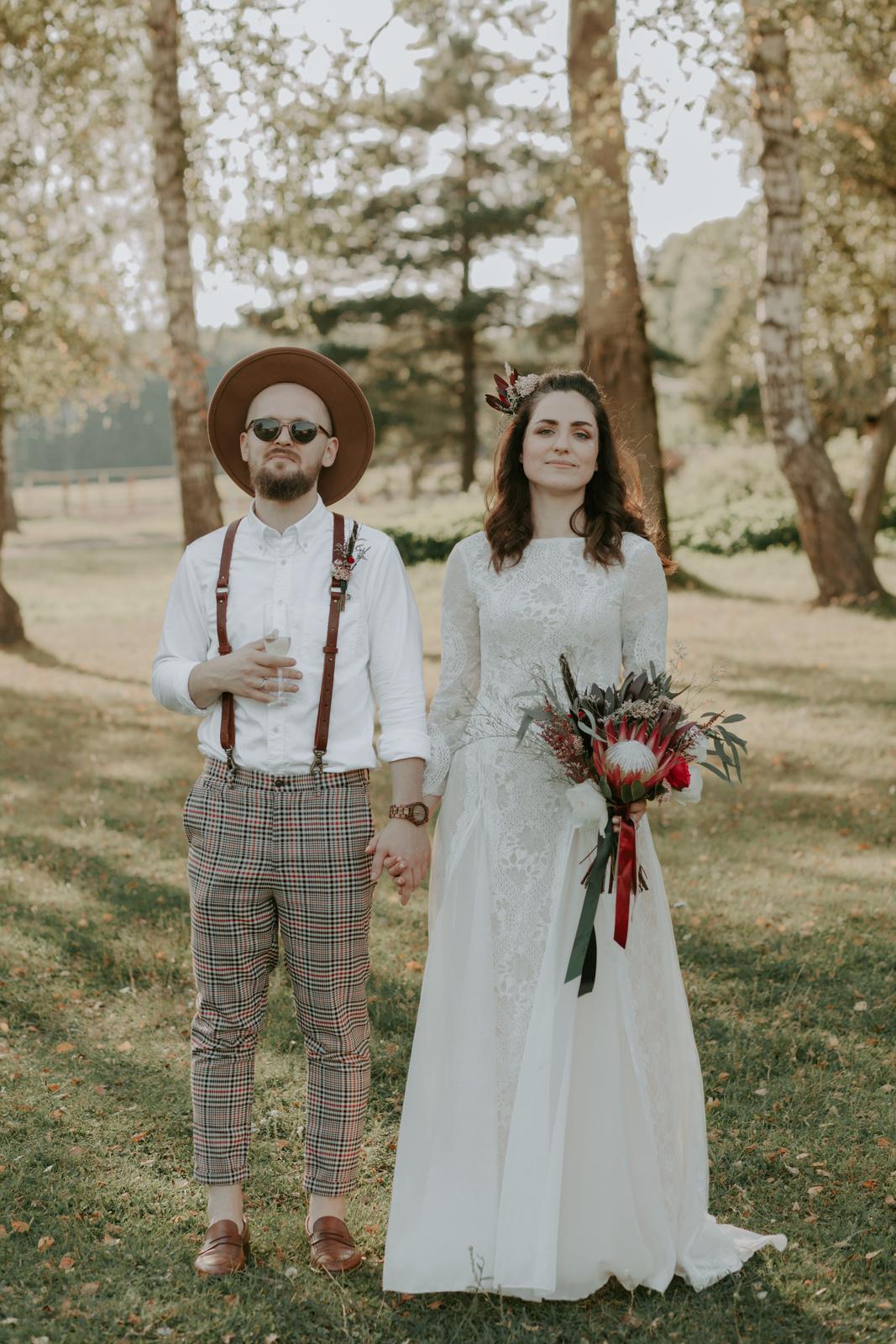 Атмосферная бохо-свадьба под открытым небом