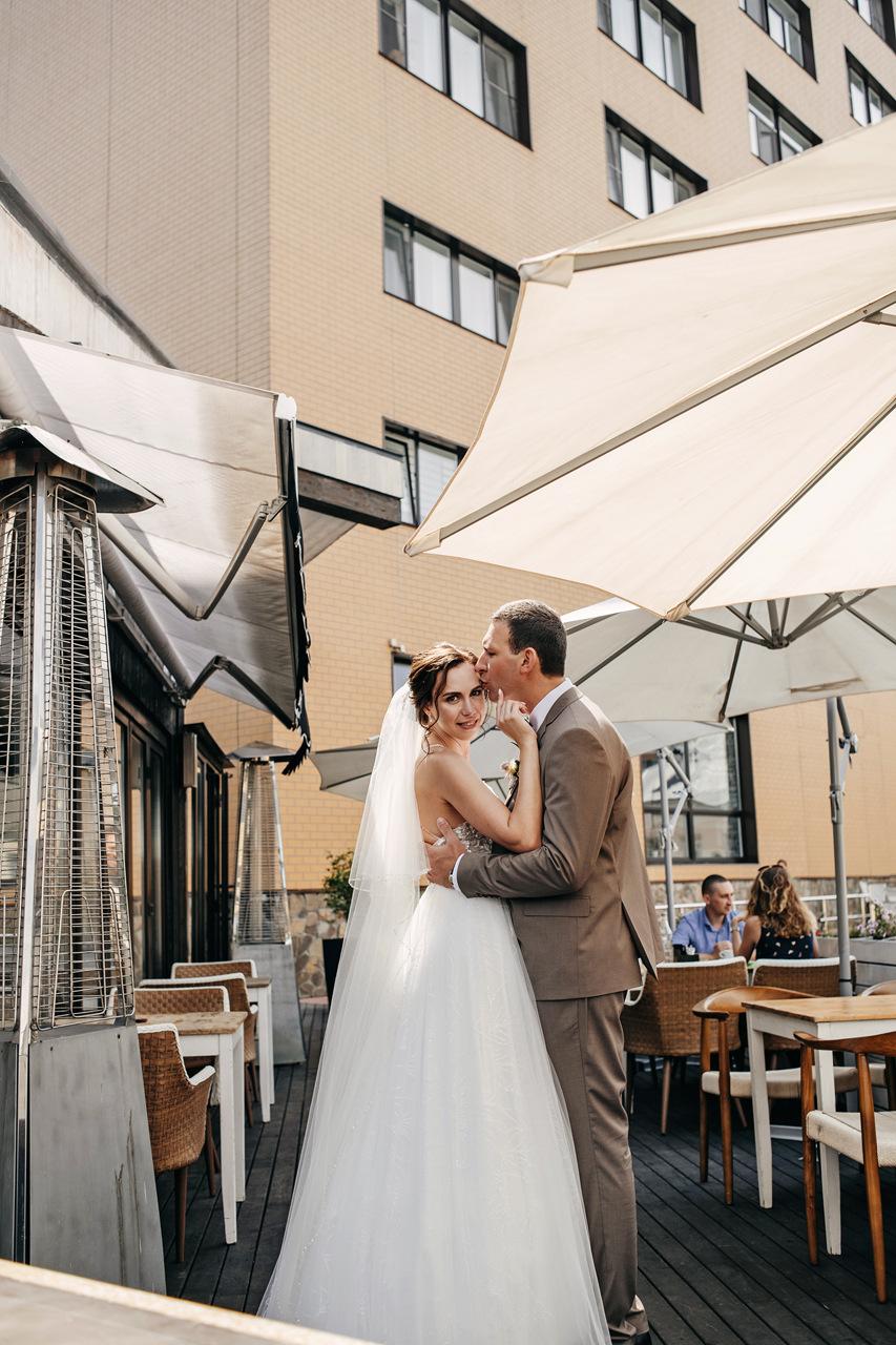 Свадьба на природе с полетом на воздушном шаре
