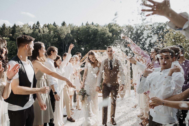 Романтика бохо — уютная свадьба на свежем воздухе