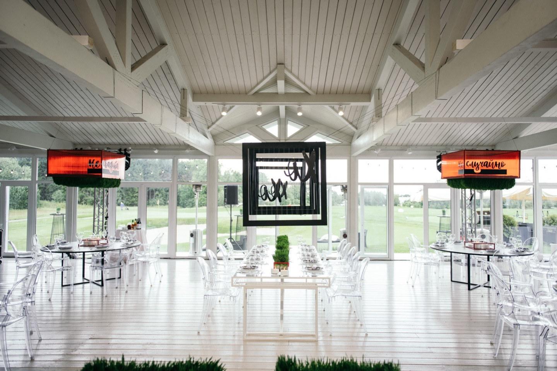 «Hugs and kisses»: яркая свадьба в гольф клубе