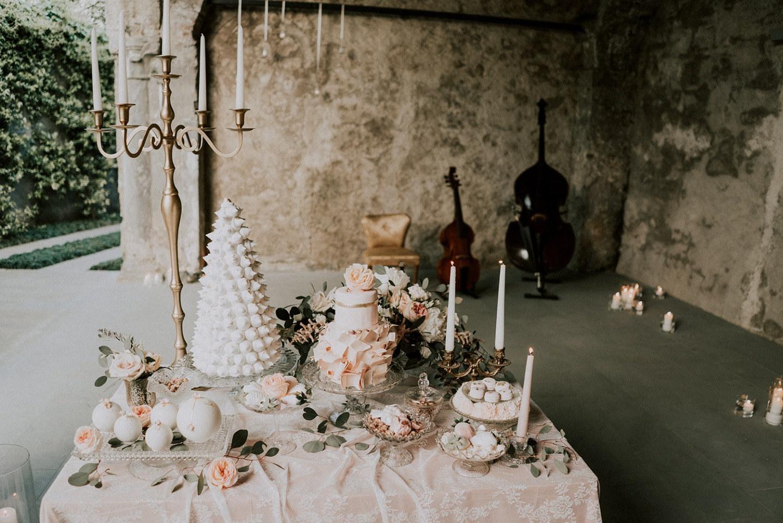 Романтичная свадебная стилизация цвета припылённой розы