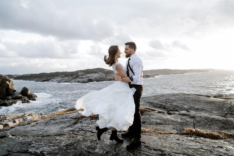 «Холодное очарование»: зимняя свадьба в Норвегии