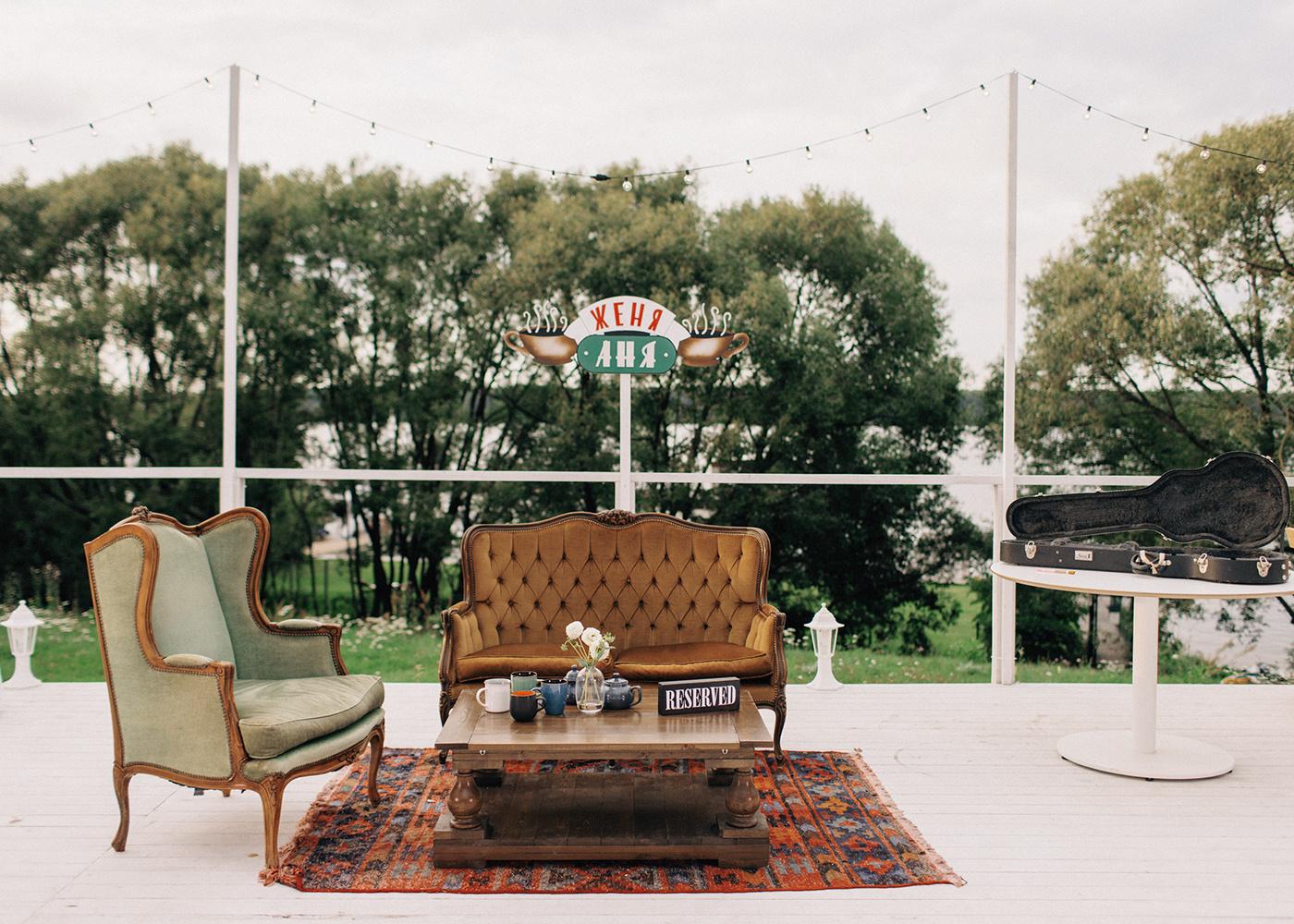 Любовь на всю громкость: уютная свадьба в стиле The Friends