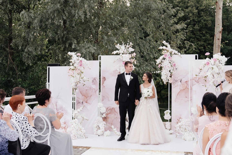 Романтическая свадьба в розовых оттенках