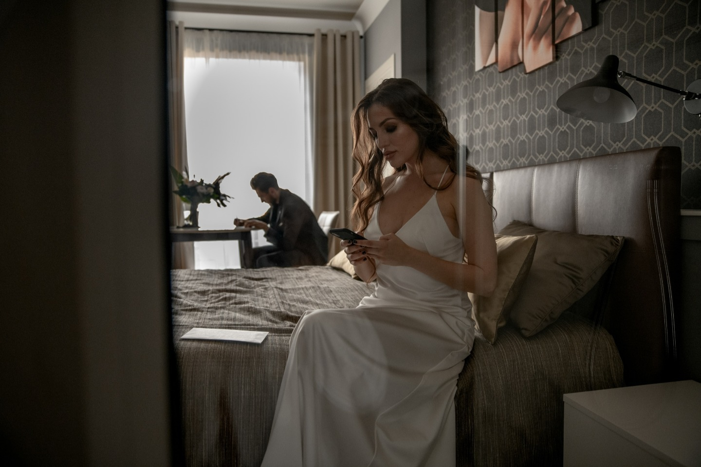 «Black minimalism»: свадьба в ресторане