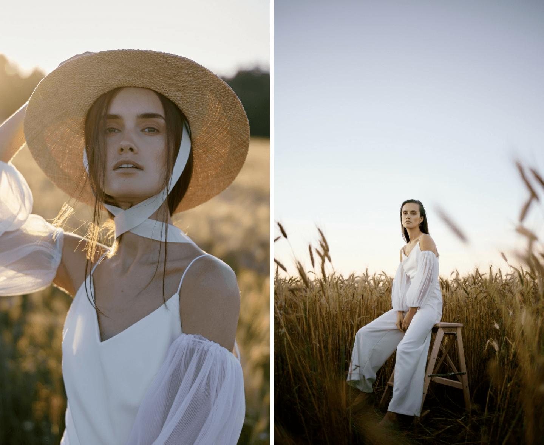 Девушка в поле: стилизованная съёмка