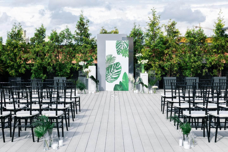 Classics & tropics: лаконичная свадьба с зеленым акцентом