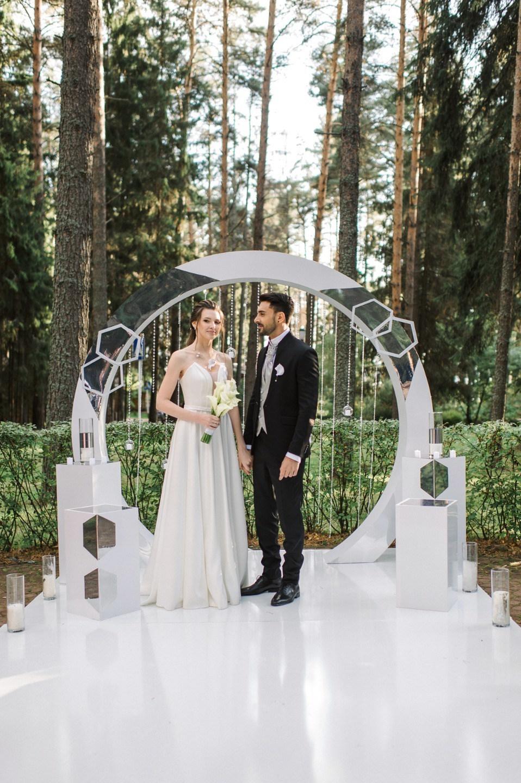 Интернациональная русско-итальянская свадьба в холодных оттенках