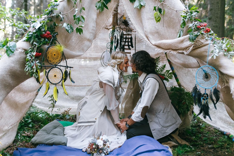 Ловцы снов: индейская тематическая свадьба на море