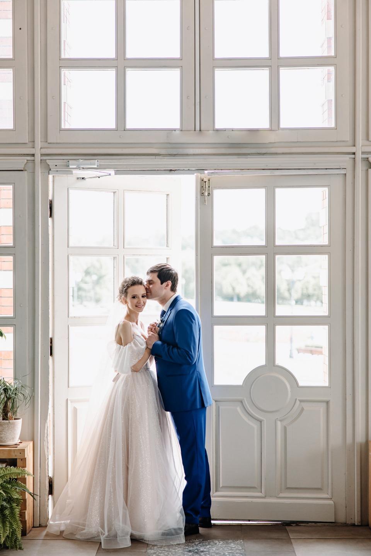 Blue accent: романтическая свадьба в банкетном зале