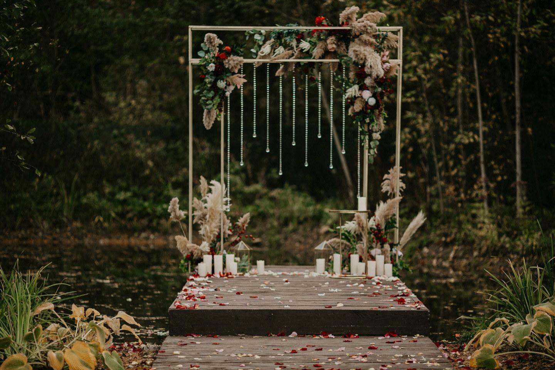 Золотая осень: свадьба в доме у леса