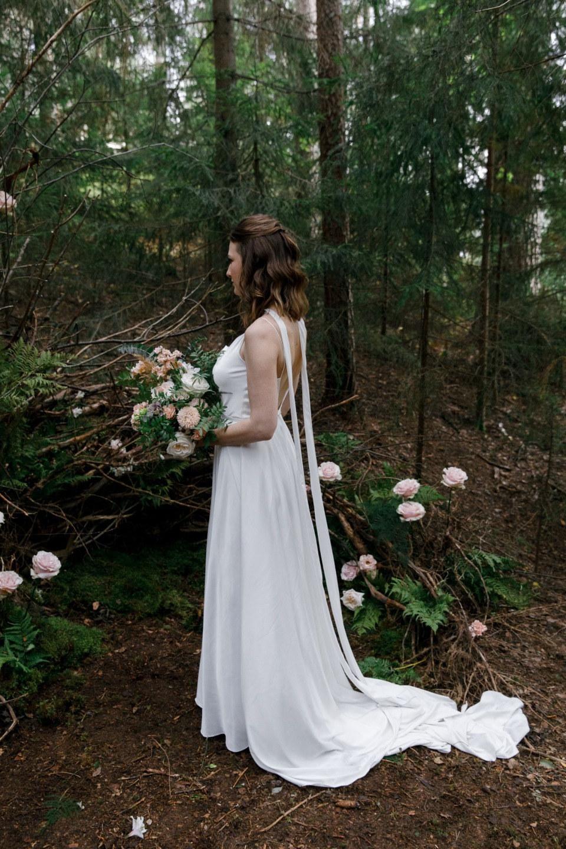 Forest tale: свадьба с ирландскими мотивами на природе