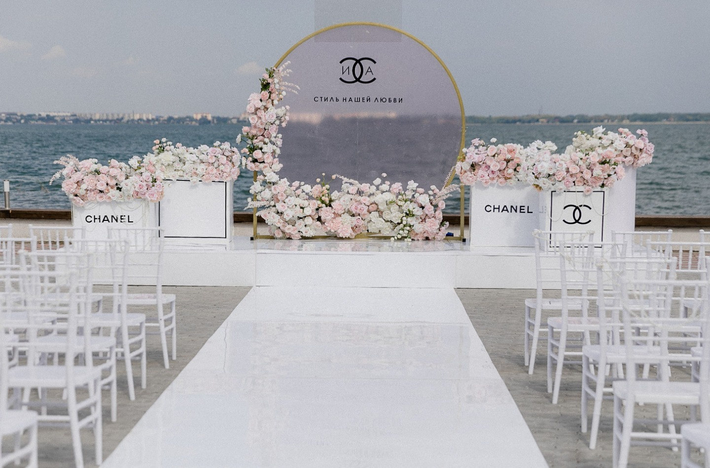 Эстетика chanel: романтическая свадьба