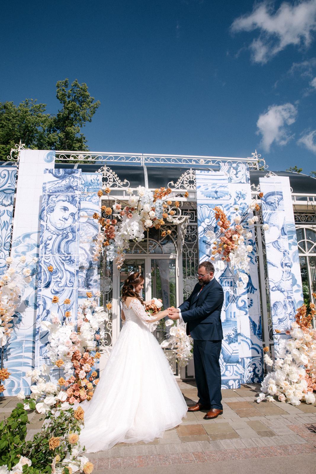 Aesthetics of blue: эко-свадьба в ресторане