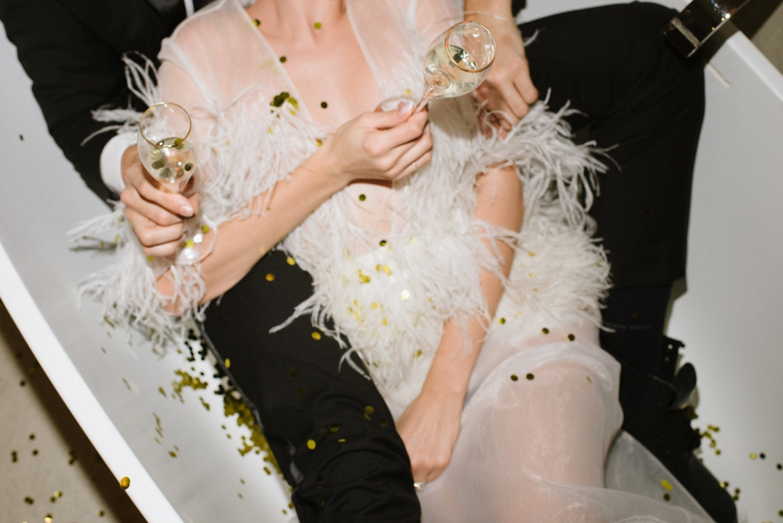 Стильная свадьба для двоих: съёмка-вдохновение