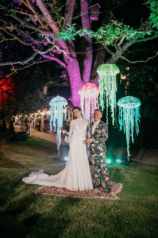 Fairy tale and magic: яркая свадьба на природе