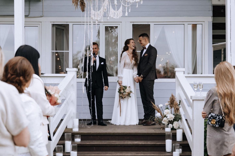 Семейный ужин в стиле бохо: осенняя свадьба за городом