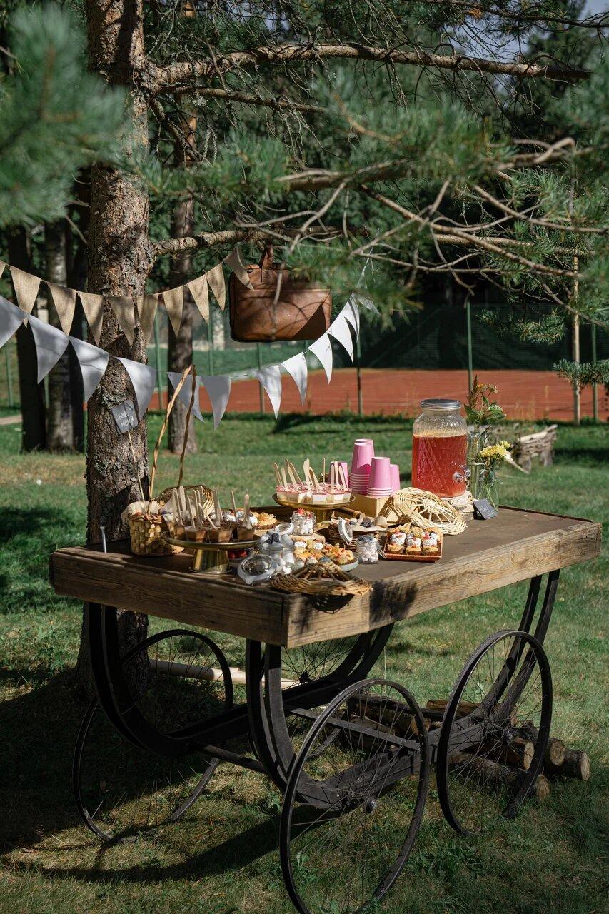 Summer picnic: рустик-свадьба на свежем воздухе