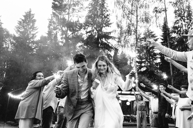 Уютная эко-свадьба в лаунж-парке