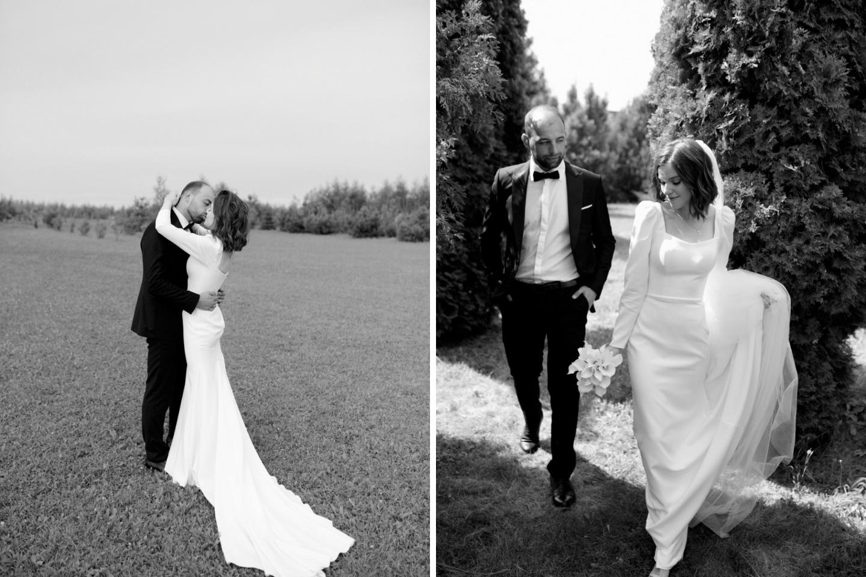 Знак свыше: минималистичная свадьба в усадьбе